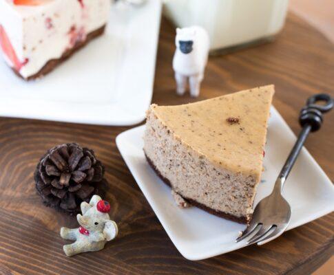 kawałek ciasta na talerzu